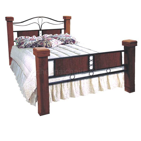 Picture of Grayling Metal Cot with Wooden Legs