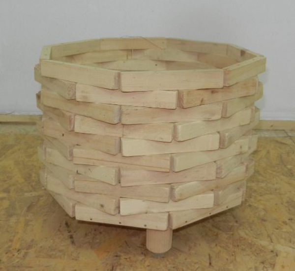 Picture of Alooh Wooden Flower Pot