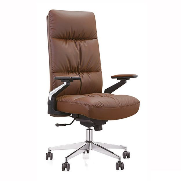 Managers Luxury Leather Chair Brown