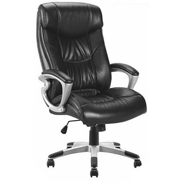 Tristan Leather Office Chair - Black