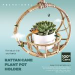Circular Rattan Cane Plant Pot Holder