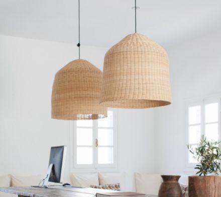 Evanna Cane lamp shades