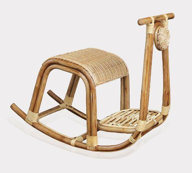 Kids Scooter Rattan Rocking Chair