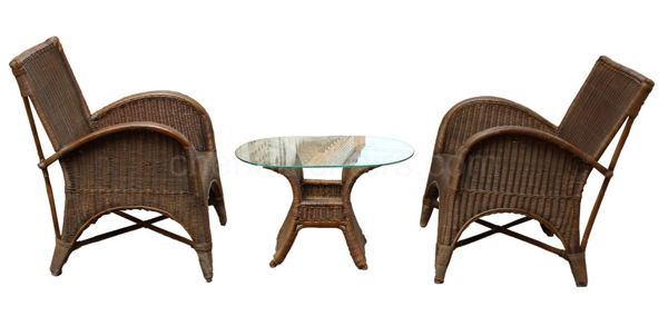 Picture of Mojarra Cane Arm Chair Dining Set