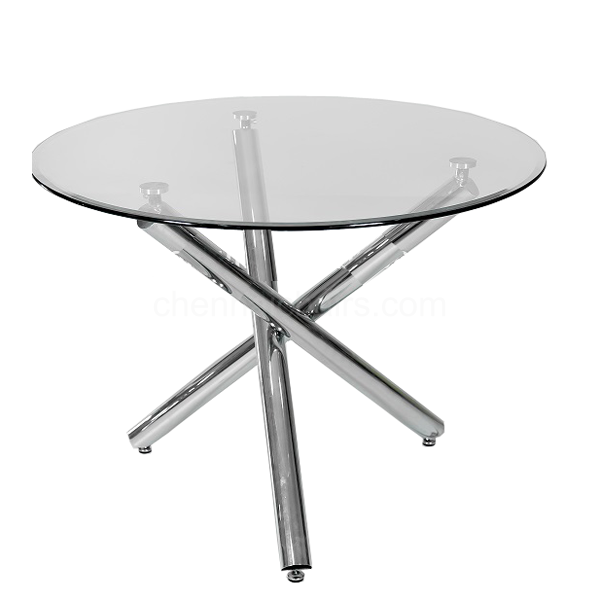 Picture of City Cross3 Leg Glass Top Dining Table