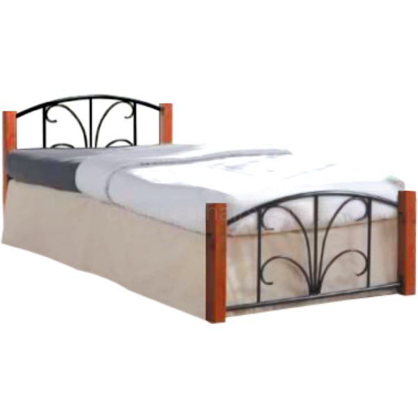 Picture of Finn Metal Cot With Wooden Legs
