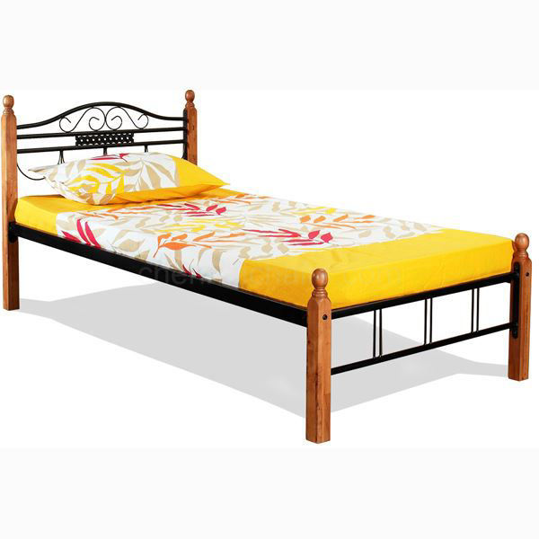 Picture of Morfio metal Cot with Wooden Legs