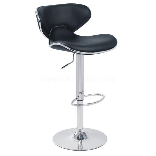 Picture of Tan Italian Leather Bar Stool
