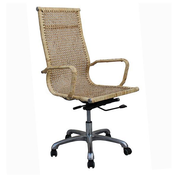 Natural Cane Executive Office Chair