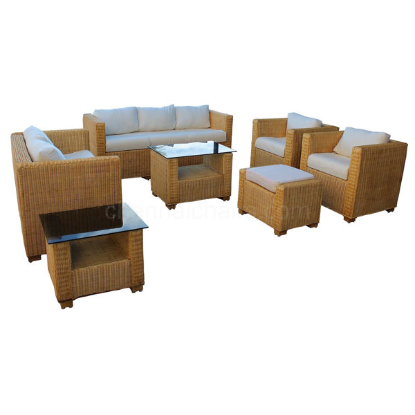 Lincoln Cane Sofa Set