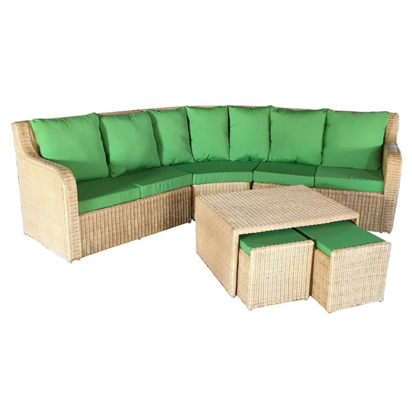 Signature Corner Cane Sofa Set
