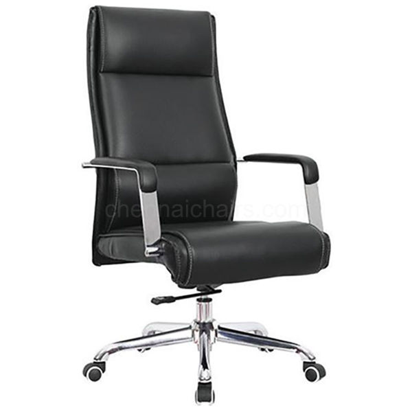 Waldo Leather Office Chair - Black