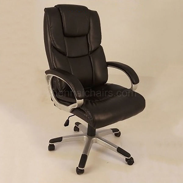 Fritz Leather Office Chair - Black