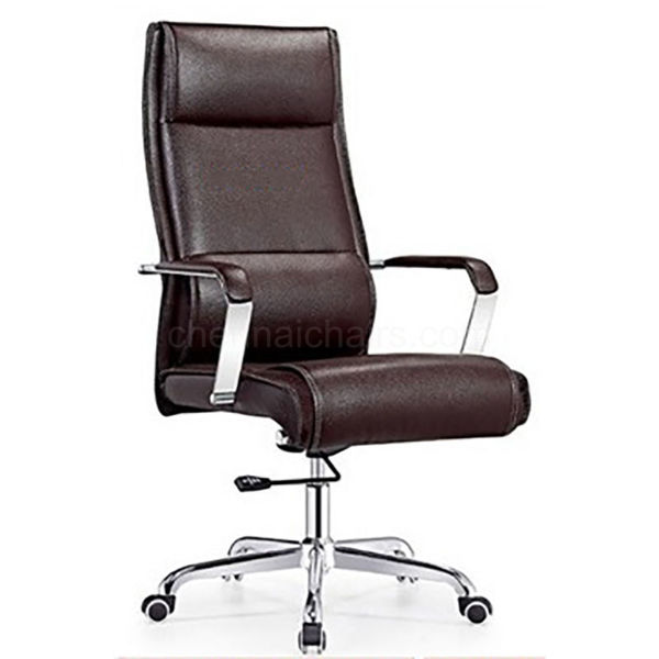 Waldo Leather Office Chair - Burgundy