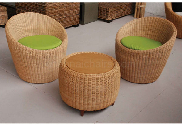 Pryce Cane Chairs and Table Set