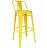 Picture of Orlando Anti - Rust Metal Steel bar Stool with low backrest