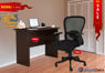 Combo of - HOFFICE WFH Laptop Desk 401 with Ample Mesh Office Chair