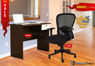Combo of - HOFFICE WFH Laptop Desk 402 with Ample Mesh Office Chair