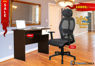 Combo of - HOFFICE WFH Laptop Desk 402 with Apollo Executive Mesh Office Chair